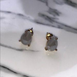 Jewelry - Grey teardrop earrings